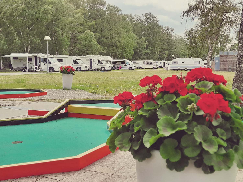 En liten blick av minigolfbanan på Falsterbo Resort